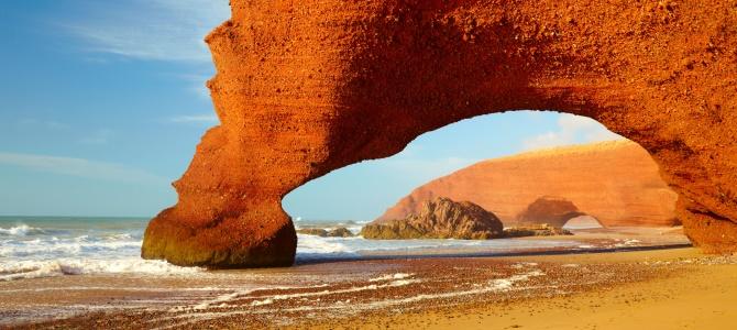 Sidi Ifni, pláž Legzira, Maroko