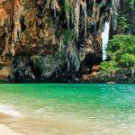 Ao Nang, pláž Phra Nang, Thajsko