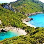 Korfu, pláž Porto Timoni, Řecko