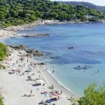 Ramatuelle, pláž de l 'Escalet, Francie