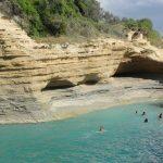 Sidari, pláž Canal d'Amour, Řecko