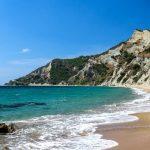 Korfu, pláž Arkoudilas, Řecko