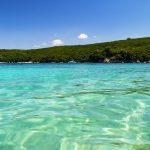 Korfu, pláž Avlaki, Řecko